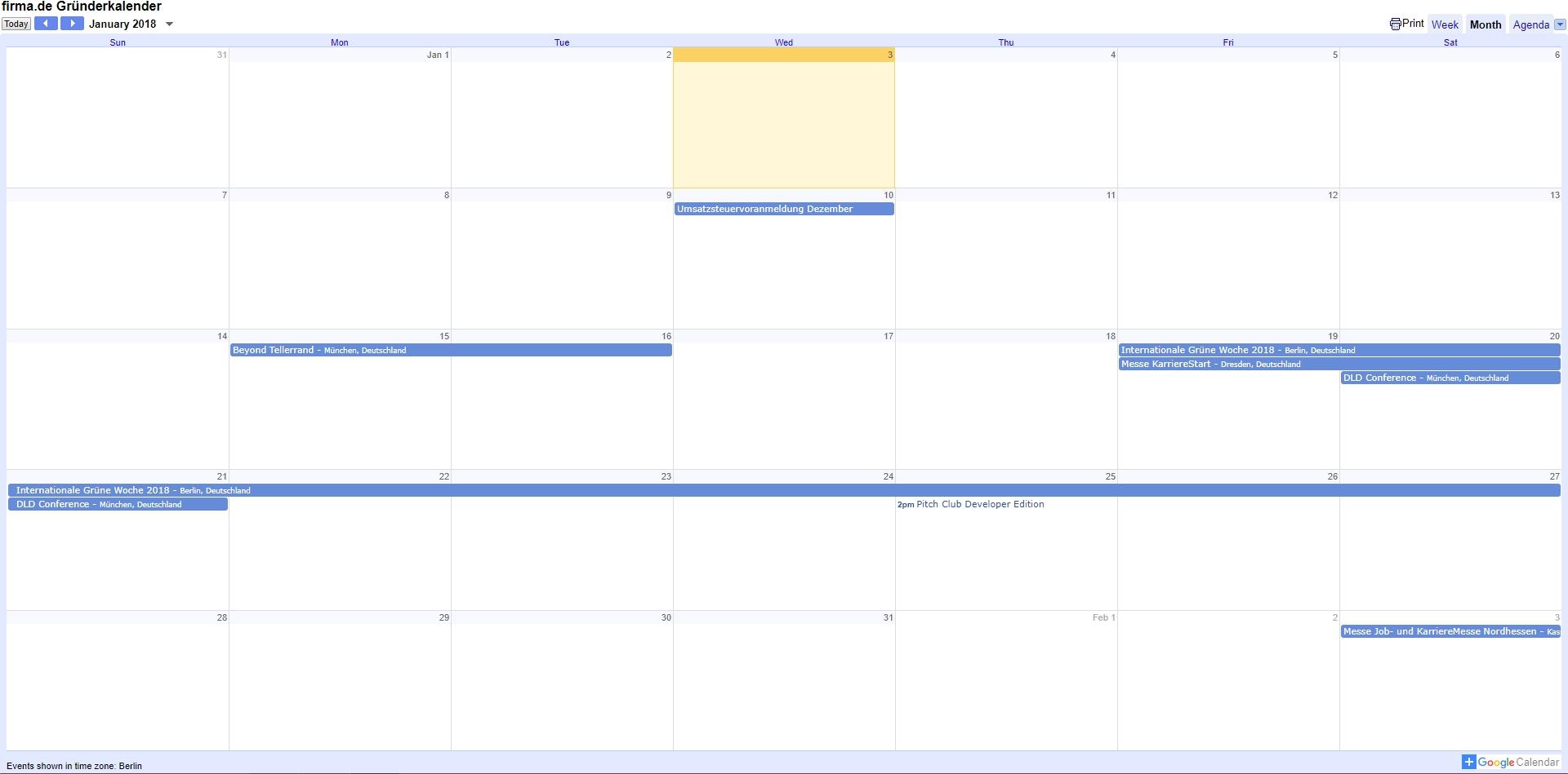 Der firma.de Gründerkalender